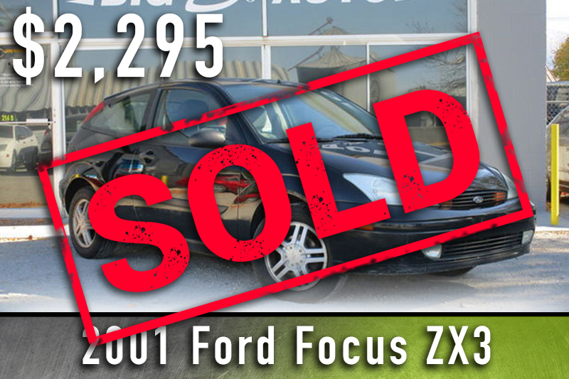 2001 Ford Focus Sold