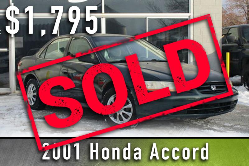 2001 Honda Accord Sold