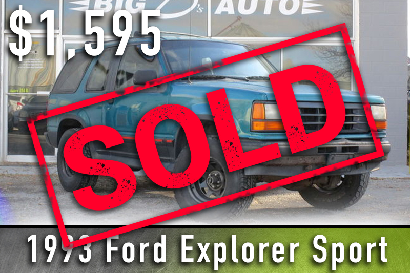 1993 Ford Explorer sold