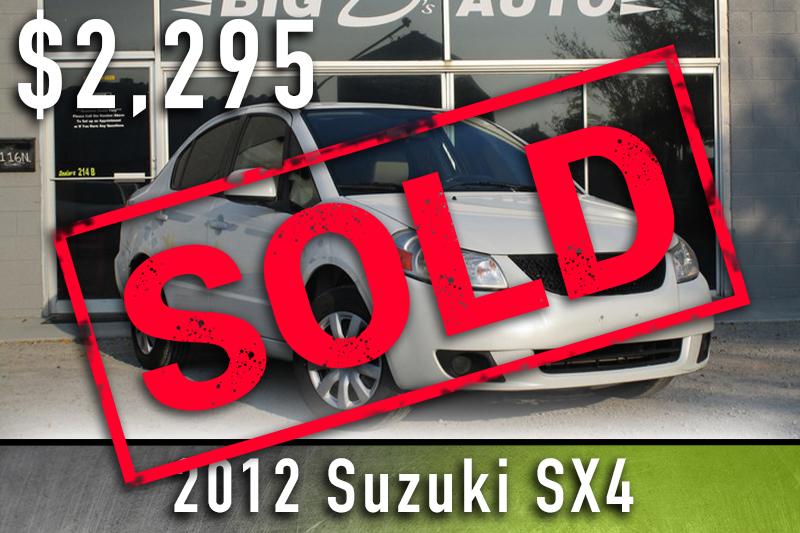 2012 Suzuki SX4 Sold