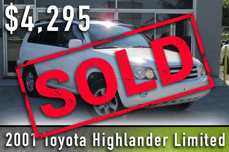 2001 Toyota Highlander Sold