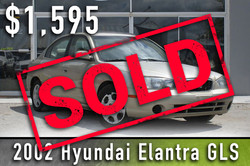 2002 Hyundai Elantra GLS Sold
