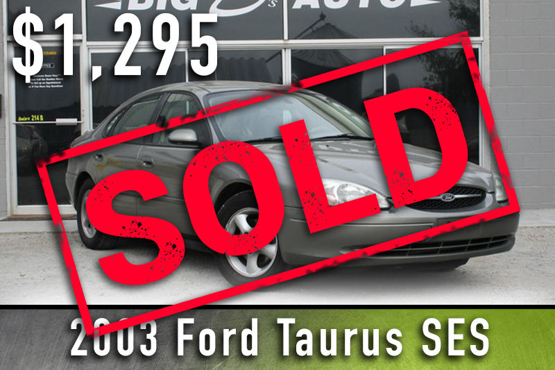 2003 ford turus sold