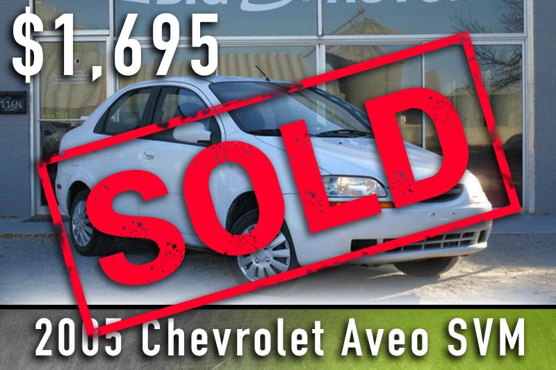 2005 Chev Aveo sold