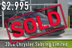 2004 Chrysler Sebring Limited Sold