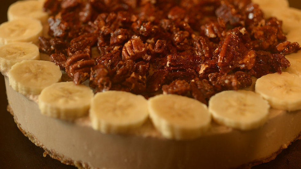 Frozen Maple-Pecan Banana Pie • 12-16 servings