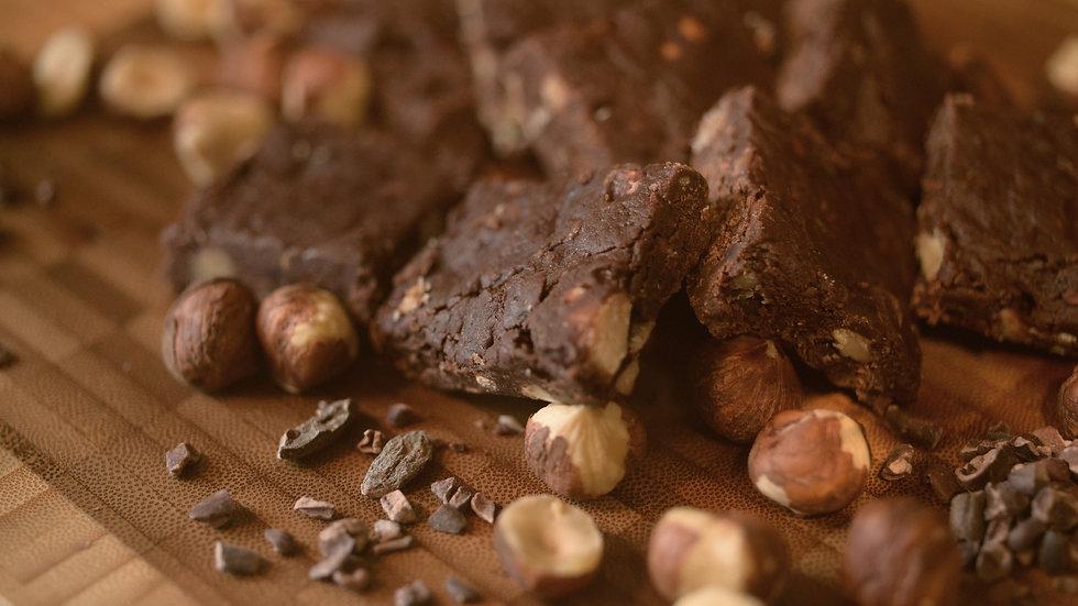 Chocolate/Carob Hazelnut Fudge • 16 pieces