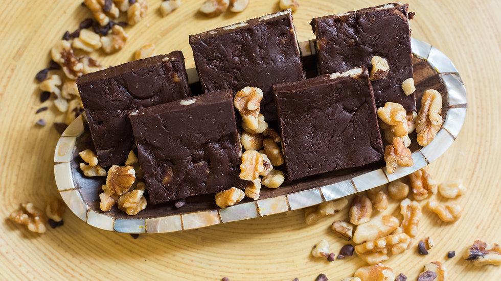 Chocolate/Carob Walnut Fudge • 16 pieces
