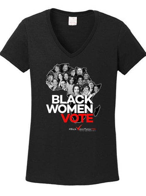 'Black Women VOTE' Classic V-Neck Tee