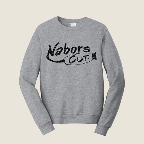 Nabors Cut Athletic Grey Crewneck Sweatshirt