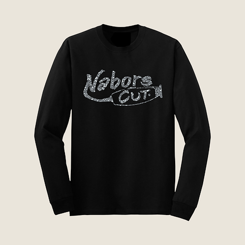 Nabors Cut Long Sleeve T-Shirt - Glitter