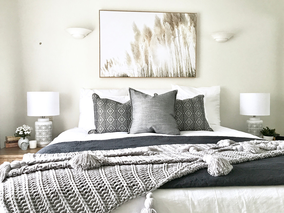 Master Bedroom- after styling