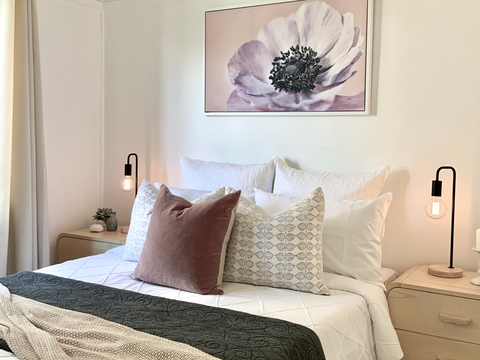 2nd Bedroom- after styling