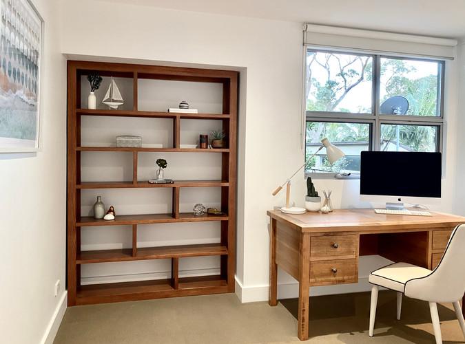 Study and bookshelf styling