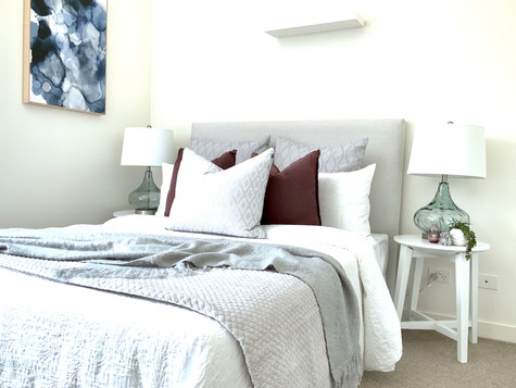 Master Bedroom- after staging/styling