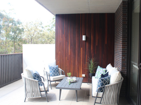 Outdoor patio- after staging