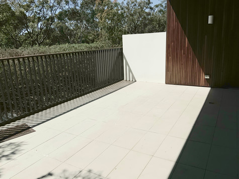 Outdoor patio- before staging