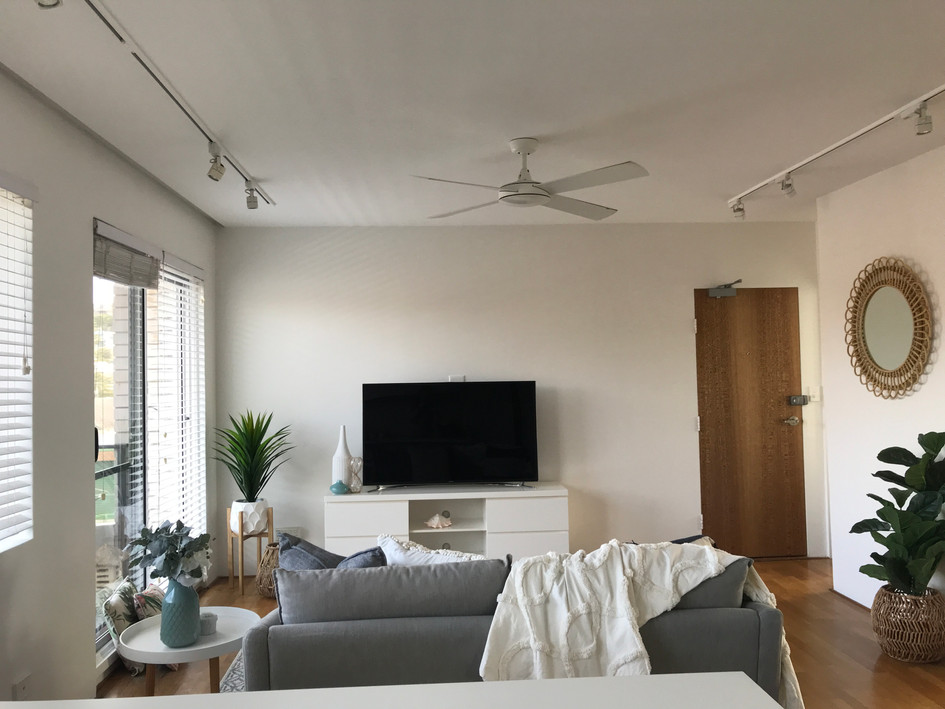Living area- after staging/styling