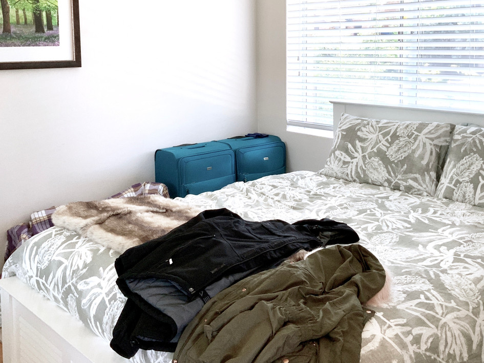 Master Bedroom- before staging/styling