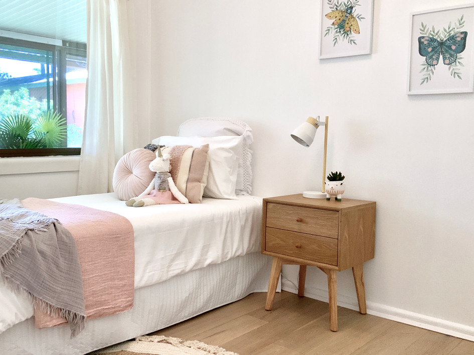 3rd Bedroom- after styling