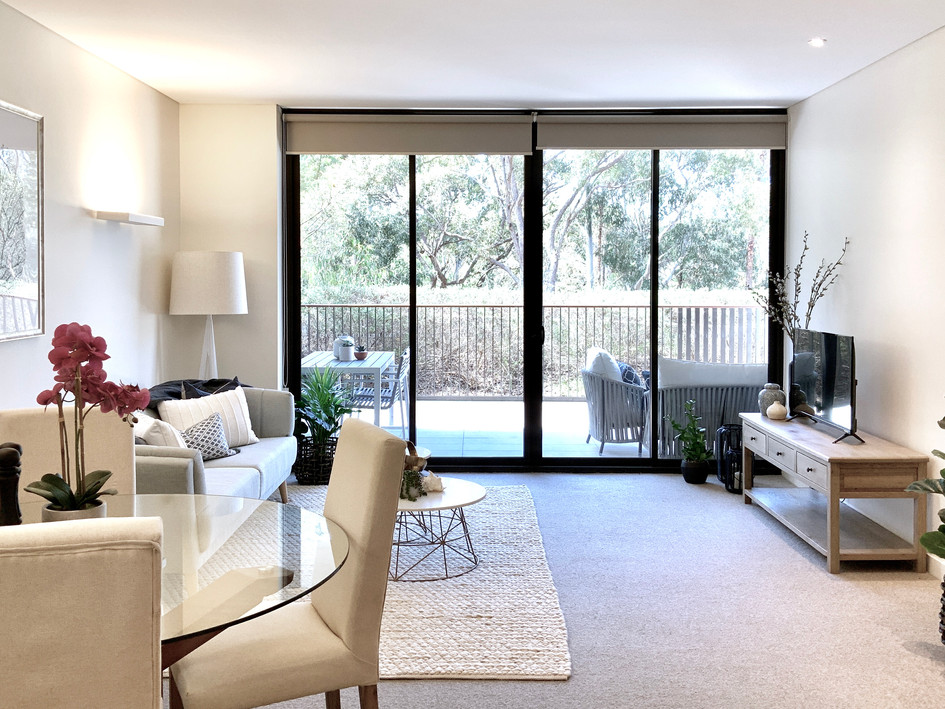 Apartment open plan- after staging/ styling