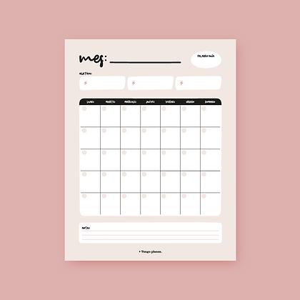 Planner Mensual (descargable)