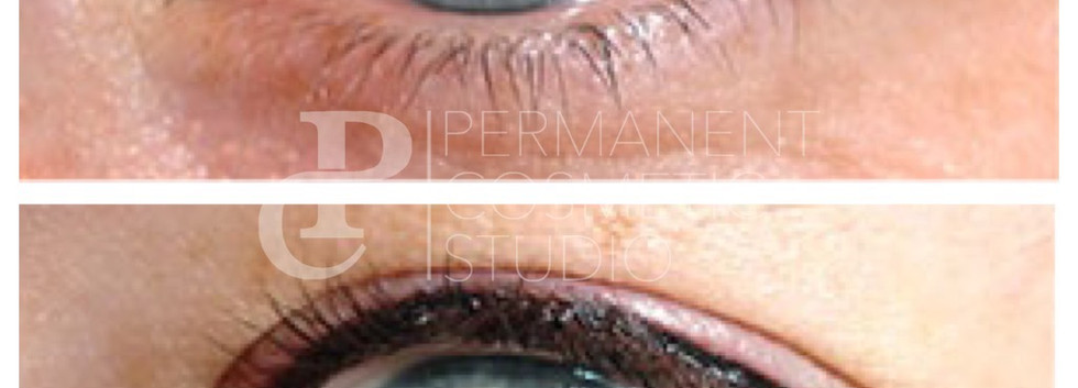 semi permanent eyeliner before and after