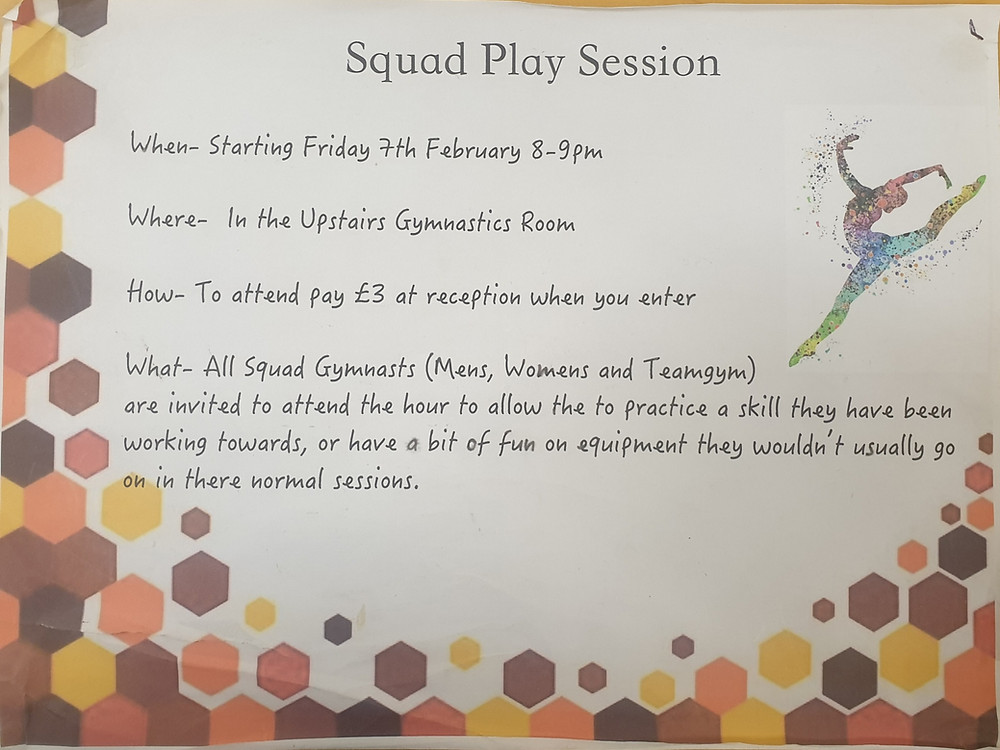 squad play sessions