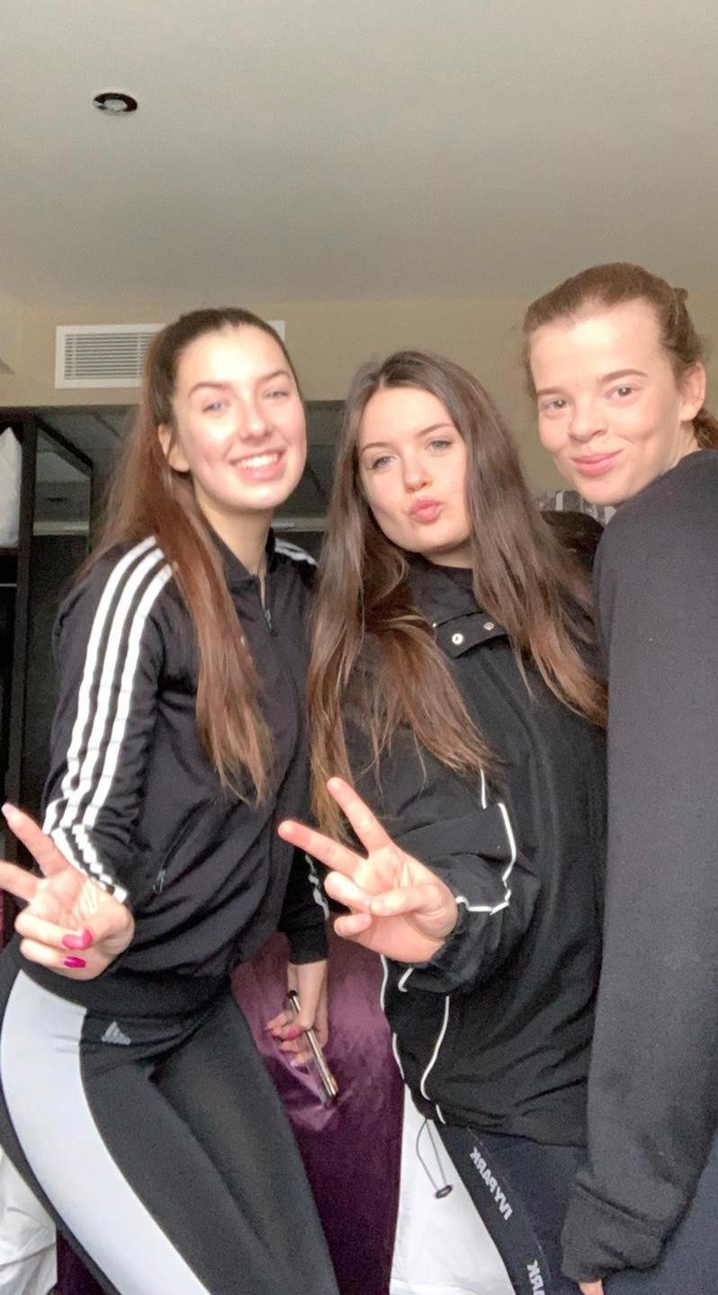 Liv, Teyha and Megan in a post pass pouty pose!