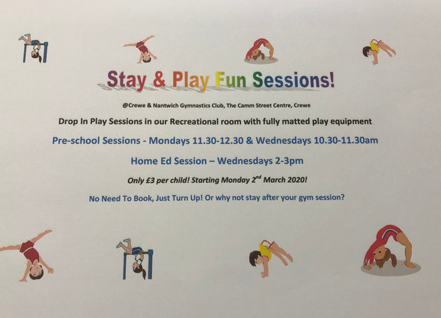 Stay & Play Fun Sessions!