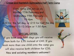 Half Term Gymnastics Camp! :D