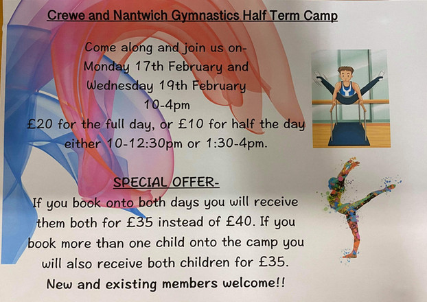 Half Term Gymnastics Camp! :D