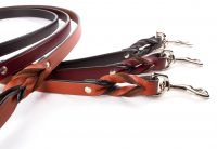 Braided Leash - Two Handled Braided Leash With Tra