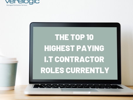 The Top 10 Highest Paying I.T Contractor Roles Currently