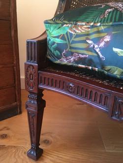Edwardian chair with custom seat