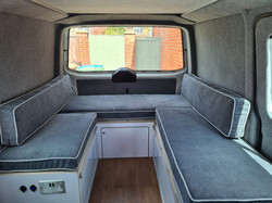 Bespoke fitted campervan cushions