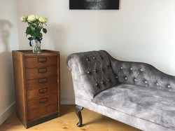 Grey chaise