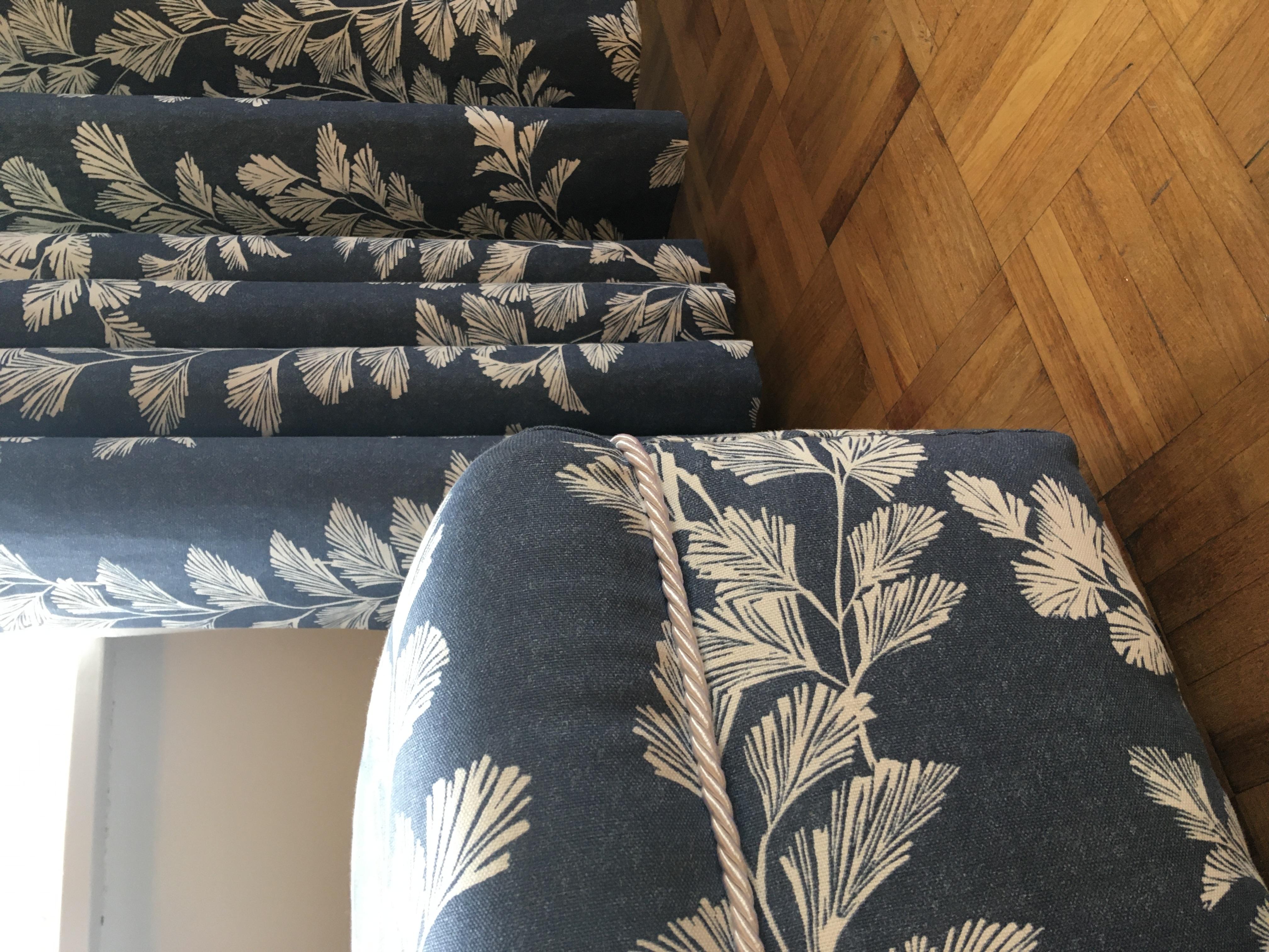 Bespoke midi-sized footstool