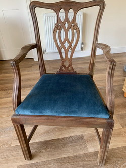 Stuff-over dining chair