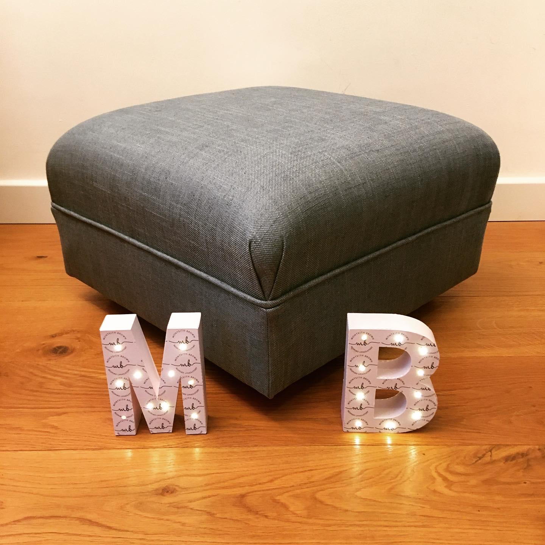 Blue Husk footstool 1