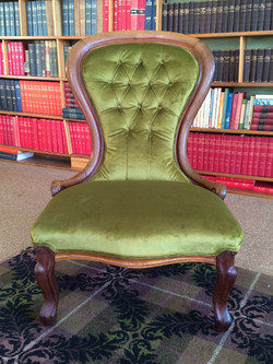 Traditionally reupholstered Nursing chair
