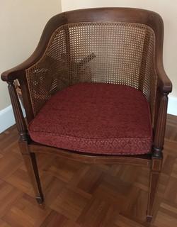 Bespoke cushion for wicker chair