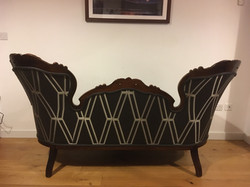 Antique Victorian mahogany settee