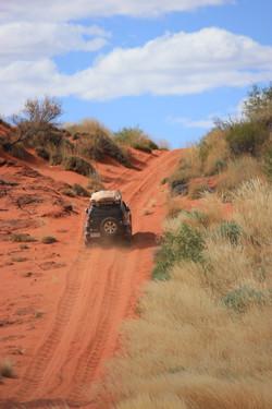 Last big sand dune before well 26.