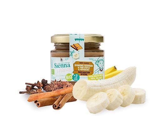 Sienna & Friends - Spread van banaan en peperkoekkruiden (BIO)