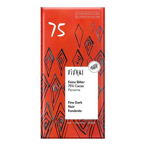 Vivani - Pure chocoladereep 75% (BIO, Vegan)