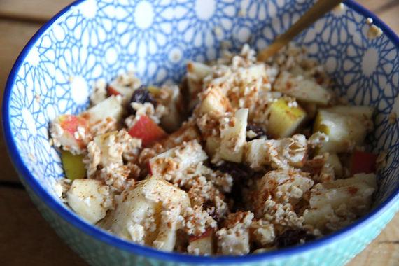 Overnight oats met appel en kaneel