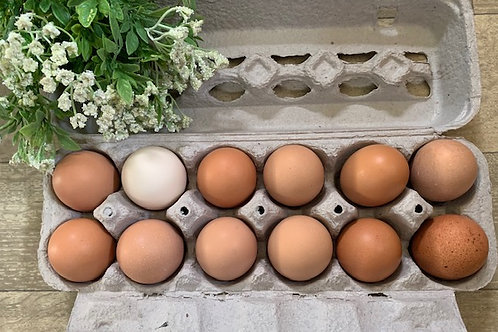 1Dozen Brown Eggs (Devon)
