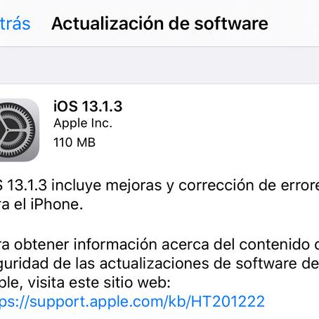 iOS 13.1.3 ya disponible con correcciones de bugs para la App de Mail, Teléfono, Salud y más