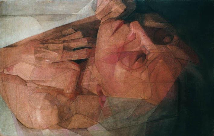 Mane, 2005, pastel sec sur toile, 210 x 141 cm